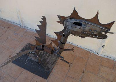 Drago, scultura in ferro